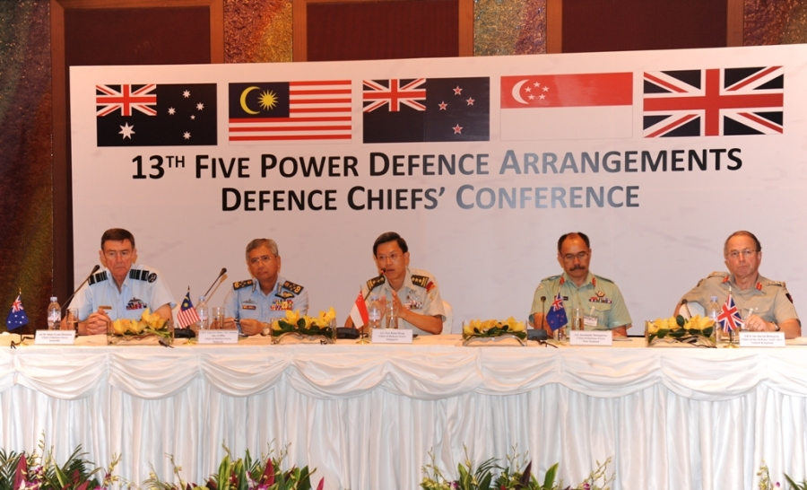 Defence Chiefs of the FPDA member countries taking questions during the joint press conference held after the FDCC