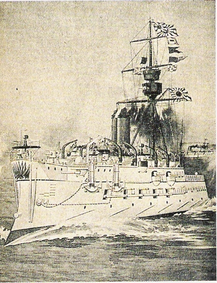 The Bertin-designed French-built Matsushima, flagship of the Japanese Navy up to the Sino-Japanese conflict.